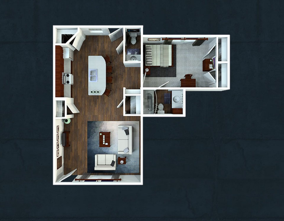 One Bedroom Floorplans The Avenue At San Marcos